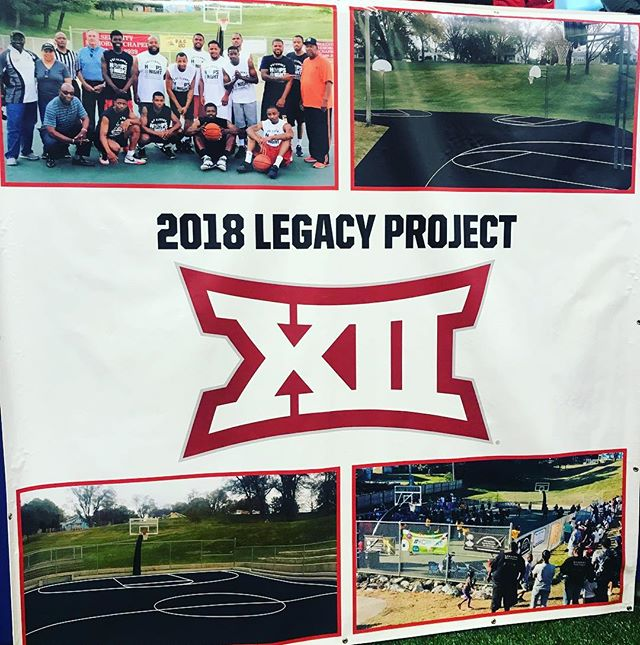 The recipient of the #Big12 2018 Legacy Project is #KCParks Oak Park which will receive renovated basketball courts. Thank you #Big12 and @sport_kc