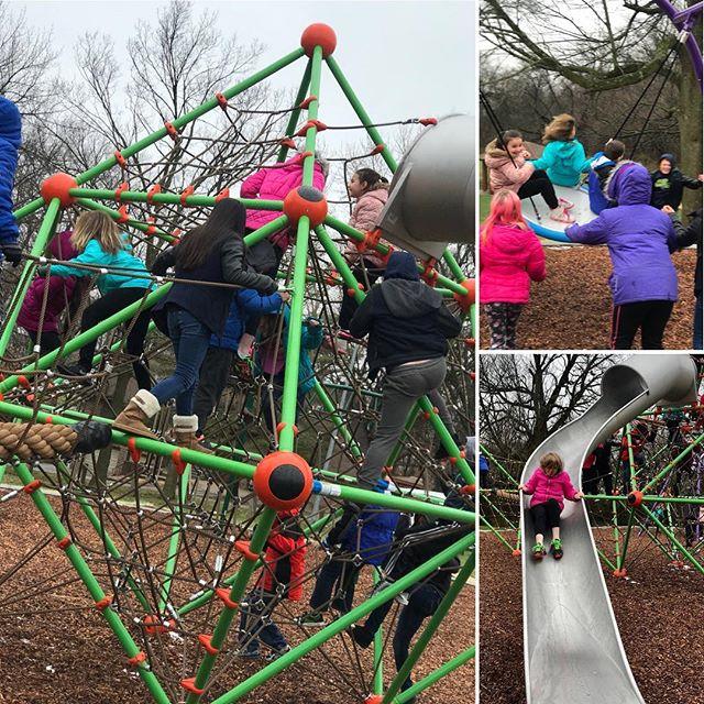 Winnwood Elementary Third Graders enjoying the new playground at Winnwood Park #KCParks #WhereKCPlays