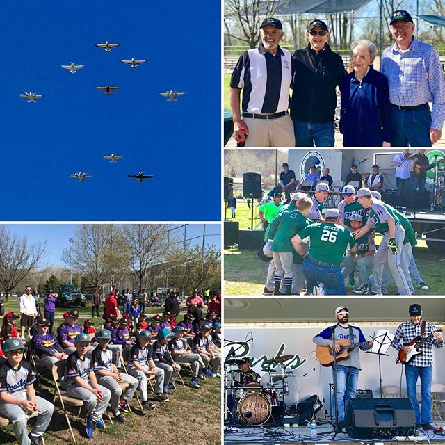 #OpeningDay 25th Anniversary of Waterwell Park #KCParks #WhereKCPlays‬ #Flyover