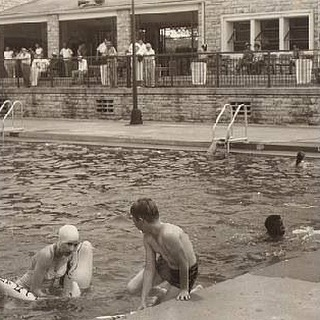 #ThrowbackThursday An undated photo of kids enjoying Swope Pool. Water Parks, Major Pools and Spraygrounds open Saturday! #MemorialDayWeekend #TBT #KCParks #WhereKCPlays