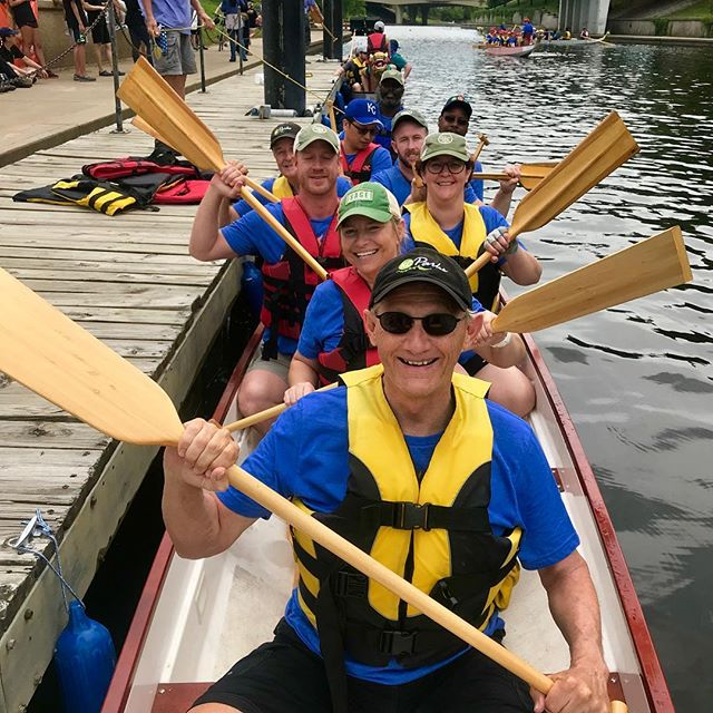#DragonBoats #BlazingPaddles lose to KU Pathology 🐉🚣‍♀️#KCParks  #WhereKCPlays #DragonBoats