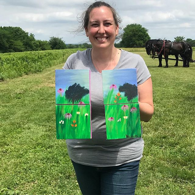 Congratulations Rebecca Wills on winning the #PeoplesChoice Award at our #PartyOnThePrairie #PleinAir competition! ..#NationalPrairieDay #NationalTrailsDay #PleinAirKC  #KCParks #WhereKCPlays ‬