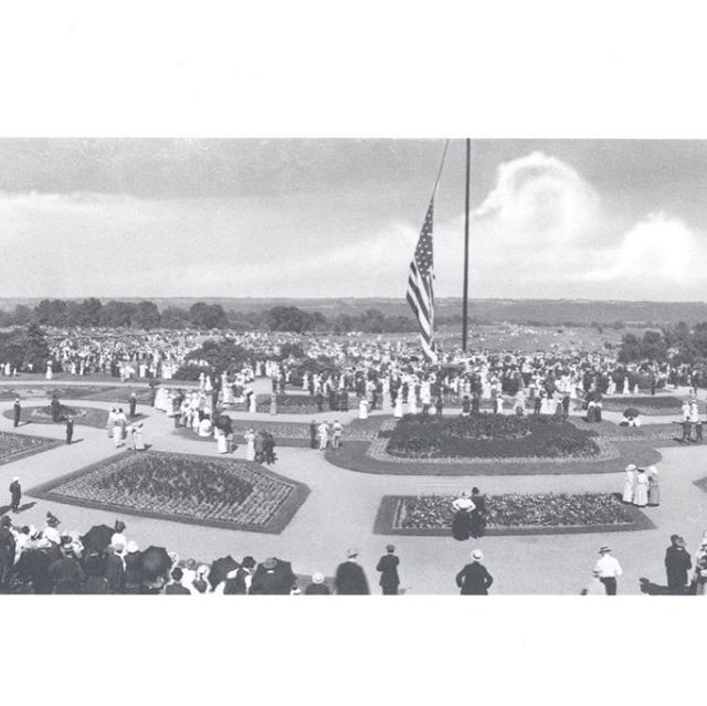 #ThrowbackThursday Ceremony at Loose Flagpole in Swope Park circa 1920 #TBT #KCParks #FlagDay