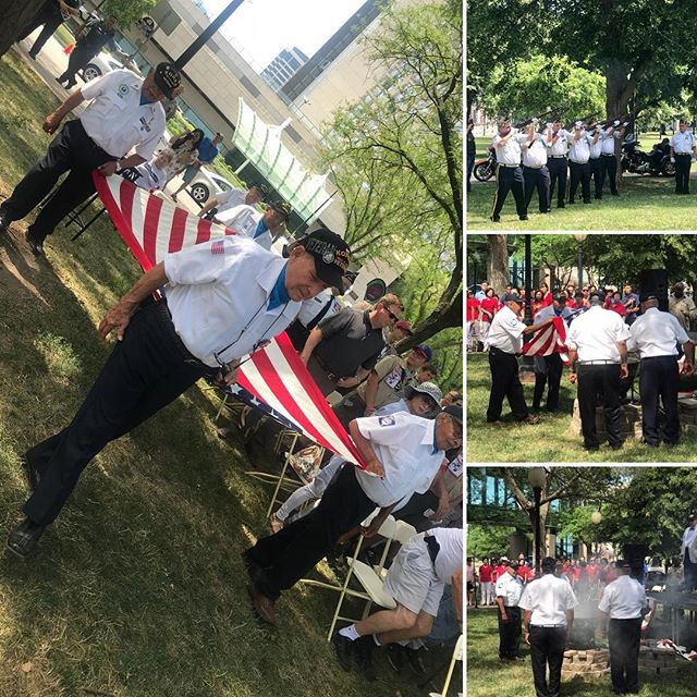 Flag Retirement ‪#FlagDay  in Washington Square Park #KCParks‬