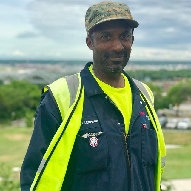 "During Park and Recreation Month we are focusing on our employees by featuring a #PlayerOfTheDay each day of July. #DiscoverJuly #KCParks #WhereKCPlaysLarry Wallace, Labor Leader-Central District, 27 years with KC Parks ""I love working for Parks & Rec because there is something new, different and challenging every day. Plus, I enjoy being outdoors."""