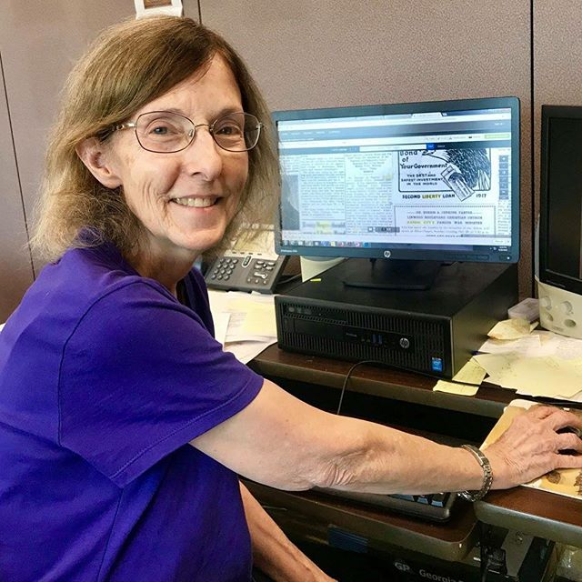 "During Park and Recreation Month we are focusing on our employees by featuring a #PlayerOfTheDay each day of July. #DiscoverJuly #KCParks #WhereKCPlaysAnn McFerrin, Archivist, 23.5 years with KC Parks ""I enjoy doing the research it takes to come up with information requested through internal and external queries; working with people in the Department; and the interesting history of KC Parks & Recreation and the City of Kansas City."""