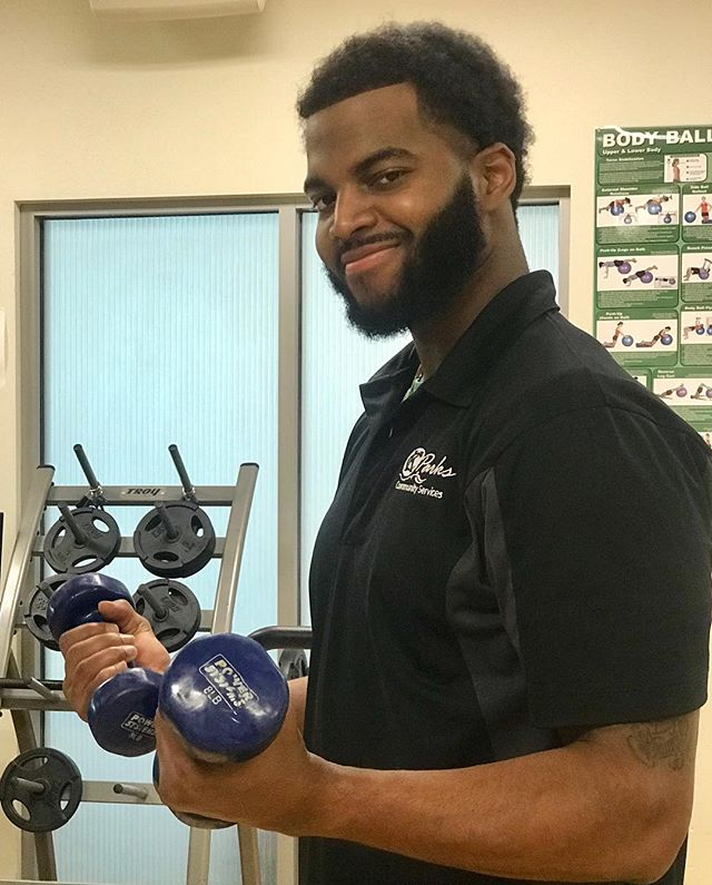 "During Park and Recreation Month we are focusing on our employees by featuring a #PlayerOfTheDay each day of July. #DiscoverJuly #KCParks #WhereKCPlaysMontay Simmons, Recreation Director-Southeast Community Center, 2 years with KC Parks ""I love to interact with the members in my fitness classes. They make the job fun and entertaining."""