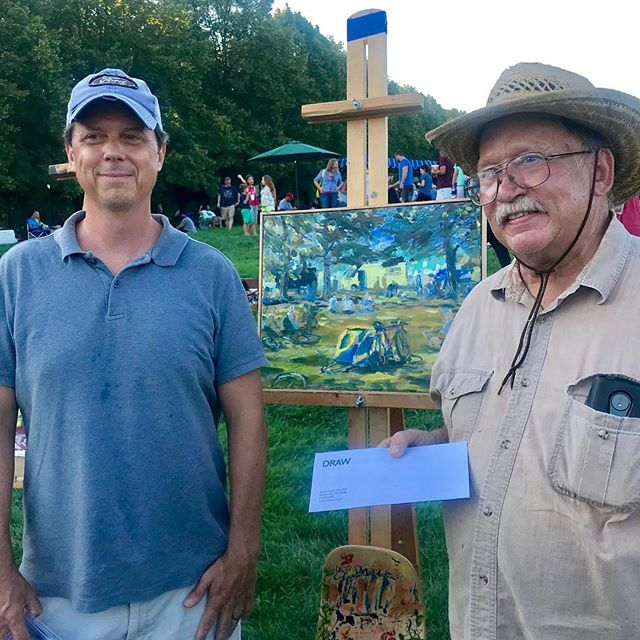Congratulations John Carroll on winning the Purchase Award at #KCBigPicnic sponsored by @drawarchitecture #DiscoverJuly #KCParks #WhereKCPlays