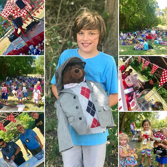 The heat did not hinder attendance at #TheTeddyBearPicnicKC Congratulations Kestan and Foam for winning the Best Dressed Teddy Bear Contest! ‪#KCParks #WhereKCPlay ‬