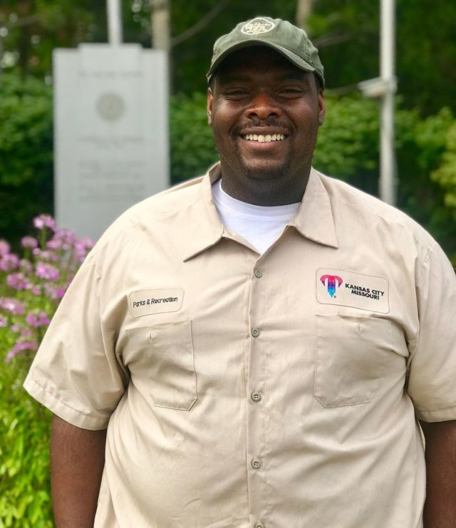 "During Park and Recreation Month we are focusing on our employees by featuring a #PlayerOfTheDay each day of July. #DiscoverJuly #KCParks #WhereKCPlaysMelvin Davis, Maintenance Worker-South District, 5 years with KC Parks ""It's a cool job and I enjoy the people I work with. I also enjoy being outside and interacting with the public and other park employees. But most importantly, I feel like I am doing a service for our community by keeping our parks clean."""