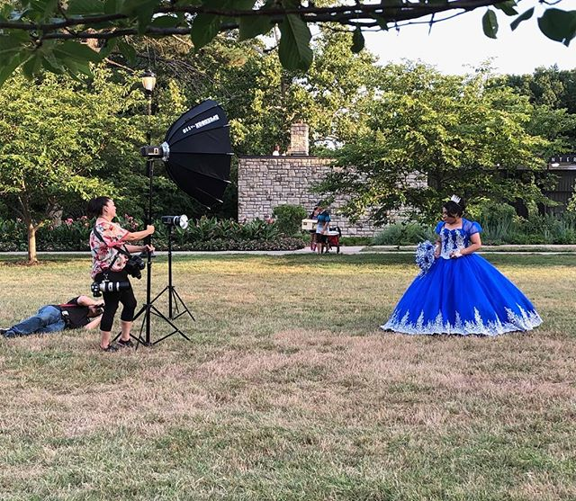 #Quinceanera photo shoot in Loose Park via Ginzy Schaefer. #KCParks #WhereKCPlays