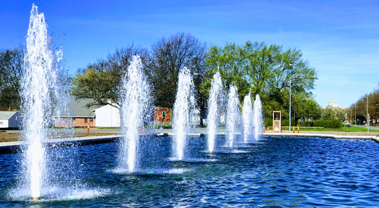 Fountain Day Celebration May 4 at the Delbert J. Haff Circle Fountain