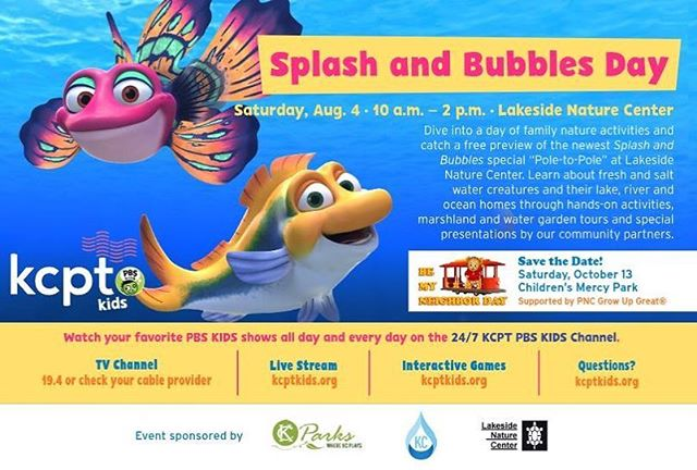 Tomorrow at Lakeside Nature Center in Swope Park! #SplashAndBubbles #KCParks #WhereKCPlays