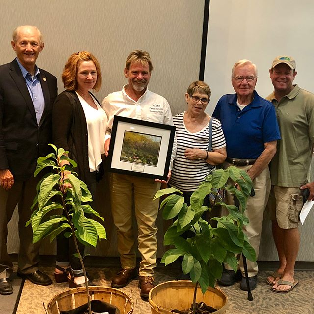 Congratulations William Fessler with #KCParks for receiving a 2018 Environmental Stewardship & Volunteerism Award and the EVERGreen Award from @KCMO Environmental Management Commission #KCParksProud #WhereKCPlays