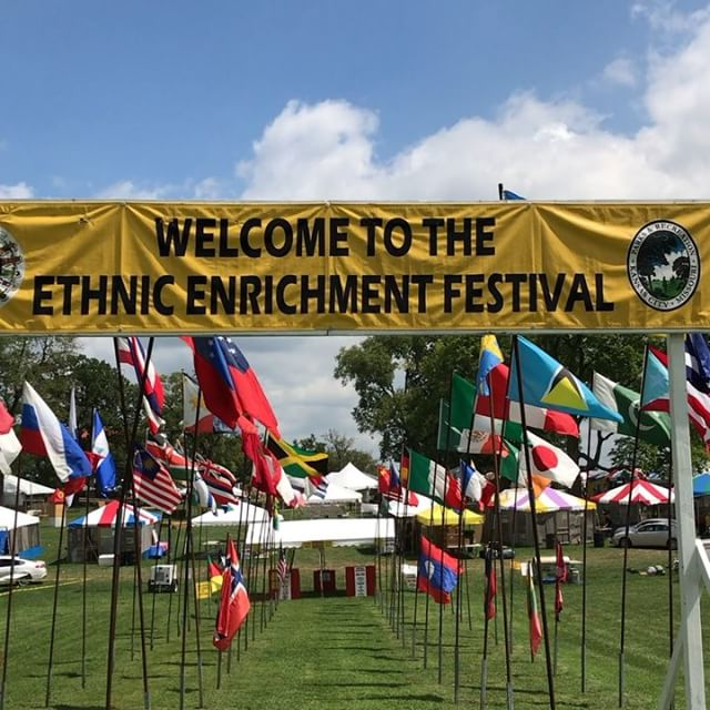 What an entrance! @EthnicKC Festival starts tonight at 5pm #Flags #KCParks #WhereKCPlays
