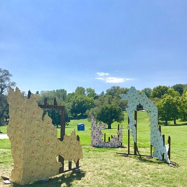 #OpenSpacesKC installation in Westwood Park by Carlie Trosclair #FracturedHorizons  #KCParks #wherekcplays