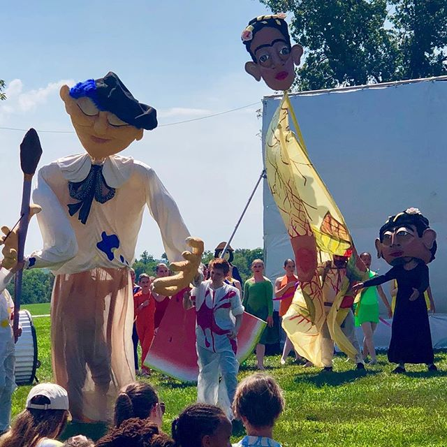 StoneLion Puppets at @OpenSpacesKC in Swope Park! #KCParks #WhereKCPlays