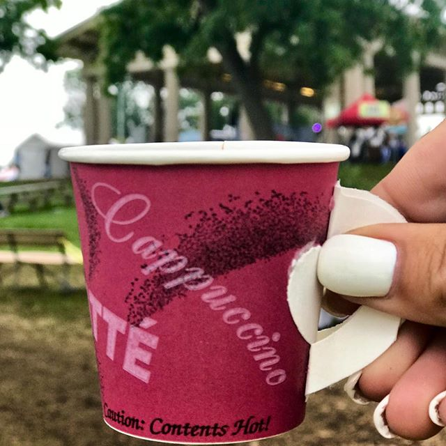 Here's to another successful weekend! Hot Turkish Coffee on a cool evening! #EthnicKC Festival  #KCParks #WhereKCPlays
