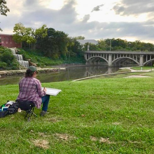 The Brush Creek Art Walk is this weekend!! #BCAW18 #PleinAirKC #KCParks #WhereKCPlays