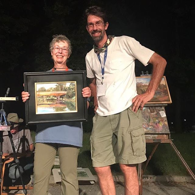 Congratulations to Brush Creek Art Walk 2018 sunset Quick Paint winner Chris Willey! All works will be on display at the Anita B Gorman Conservation Discovery Center through the month of October (4750 Troost).