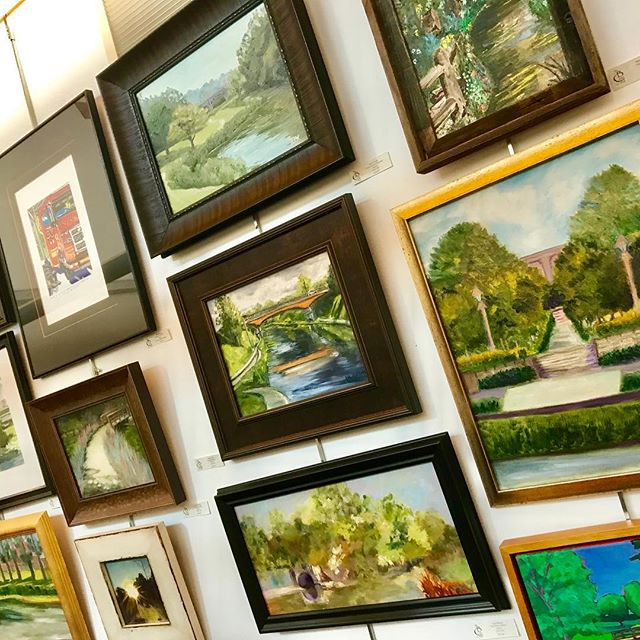 Check out the amazing #PleinAirKC talent from the Brush Creek Art Walk now on exhibit and for sale thru the end of the month at the Anita Gorman Discovery Center #KCParks #WhereKCPlays #PleinAir