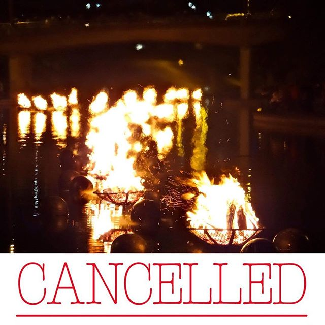 Tonight's #WaterFireKC is cancelled due to weather. 🌧   #KCParks @WaterfireKC #cancelled