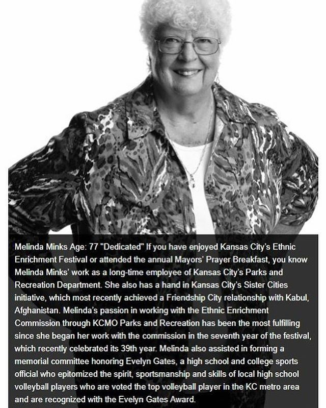 Meet Melinda Minks, one of this year's inspiring 70 Over 70 Awards honorees. Read about her and other honorees at 70over70kc.org, or meet her in person on Oct. 30. Thanks for all you do, Melinda! Photo by Tom Styrkowicz. #kcparksproud