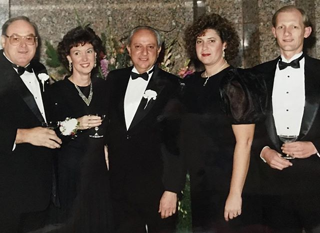 #ThrowbackThursday #KCParks Director Mark L. McHenry, his wife Debbie, Parks Commissioner Carl DiCapo, and former Director Terry Dopson and wife at the opening of the Bruce R. Watkins Cultural Heritage Center circa 1989.**In honor of his retirement, we are showcasing photos of Mark taken during his 44+ years with KC Parks. Read more About Mark's Career & Memories at kcparks.org #TBT #WhereKCPlays #MarksMemory