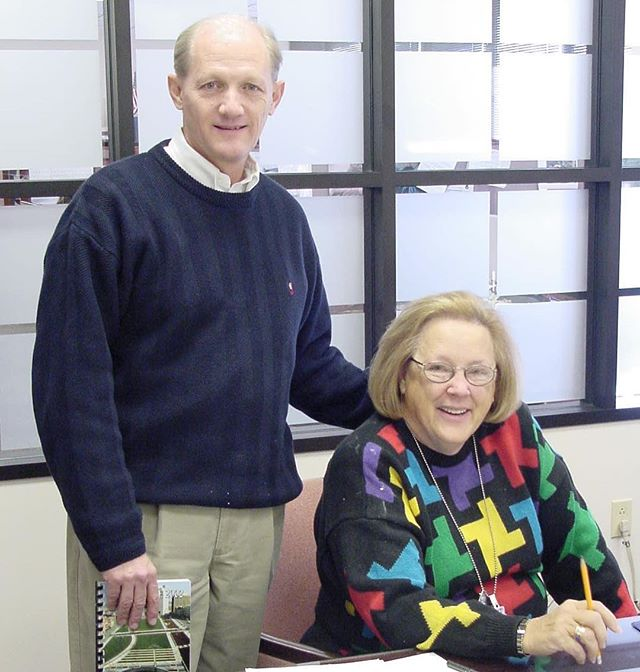 #ThrowbackThursday #KCParks Director Mark L. McHenry with Mary Edith Lillis (aka MEL), circa 2002. MEL was a former Superintendent of Recreation who worked at KC Parks for more than 50 years. She passed away on Friday, October 19. Our thoughts and prayers go out to her family and friends. **In honor of his retirement, we are showcasing photos of Mark taken during his 44+ years with KC Parks. Read more About Mark's Career & Memories at kcparks.org #TBT #WhereKCPlays #marksmemory