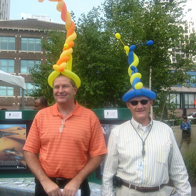 #ThrowbackThursday #KCParks Director Mark L. McHenry and former Deputy Director Steve Lampone at the kickoff of the City's Combined Charities Campaign circa 2008.In honor of his retirement, we are showcasing photos of Mark taken during his 44+ years with KC Parks. Read more About Mark's Career & Memories at kcparks.org #TBT #WhereKCPlays #marksmemory