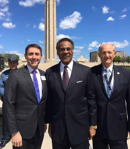 {Throwback Thursday} April 6, 2017 ‪#WW1Centennial #WW1 #USWW100 featuring Dr. Matthew C. Naylor, President & CEO of National WWI Museum and Memorial, Congressman Emanuel Cleaver and #KCParks Director Mark McHenry. #Armistice100 #veteransDay *If you have a favorite photo of Mark, please send it to heidi.markle@kcmo.org. Thank you!*In honor of his retirement, we are showcasing photos of Mark taken during his 44+ years with KC Parks. Read more About Mark's Career & Memories at kcparks.org #TBT #WhereKCPlays #marksmemory
