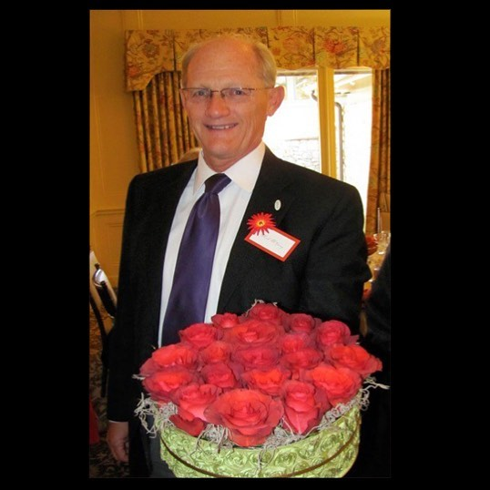 #ThrowbackThursday #KCParks Director Mark L. McHenry at the Kansas City Rose Society luncheon circa 2010. Thanks for sharing the photo Ginzy Schaefer!  If you have a favorite photo of Mark, please send it to heidi.markle@kcmo.org. Thank you!In honor of his retirement, we are showcasing photos of Mark taken during his 44+ years with KC Parks. Read more About Mark's Career & Memories at kcparks.org #TBT #WhereKCPlays#MarksMemory