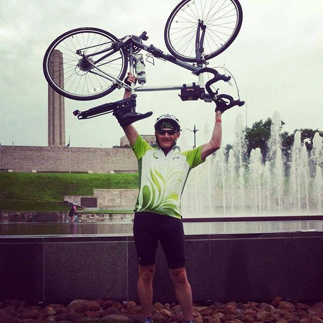 #ThrowbackThursday #KCParks Director Mark L. McHenry at #RideTheFountains circa 2014. ️  In honor of his retirement, we are showcasing photos of Mark taken during his 44+ years with KC Parks. Read more About Mark's Career & Memories at kcparks.org #TBT #WhereKCPlays #marksmemory