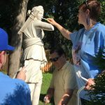 People enjoying adopt a monument
