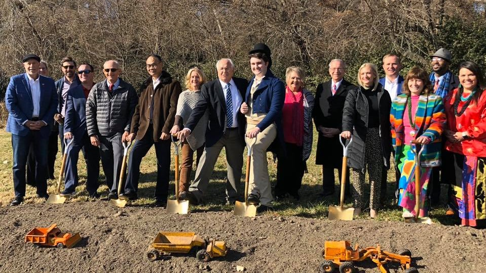 Groundbreaking Held for Chouteau Fountain in the Northland