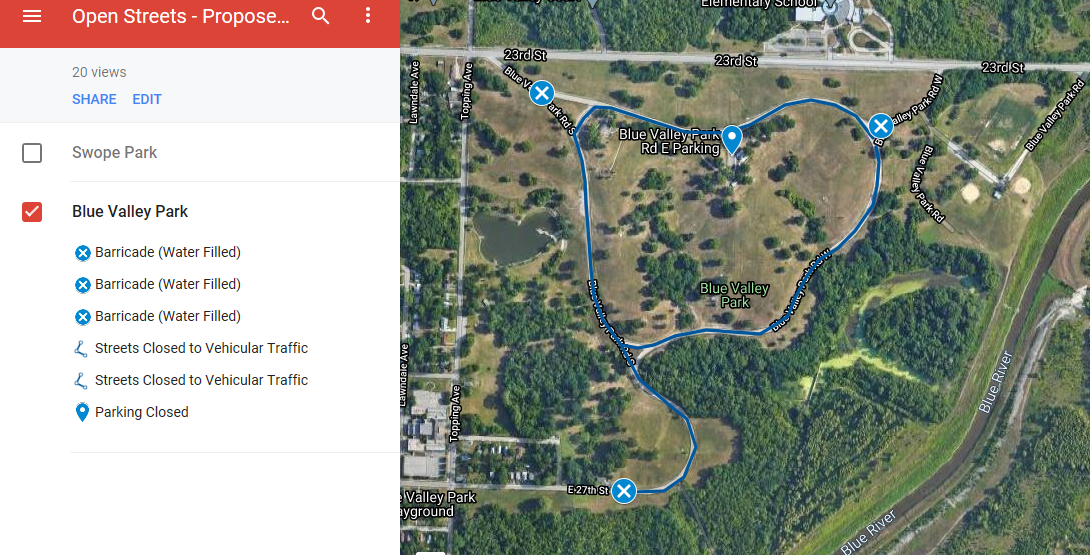 Blue Valley Park Map