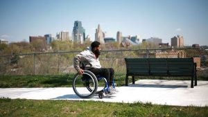 Guy in wheel chair