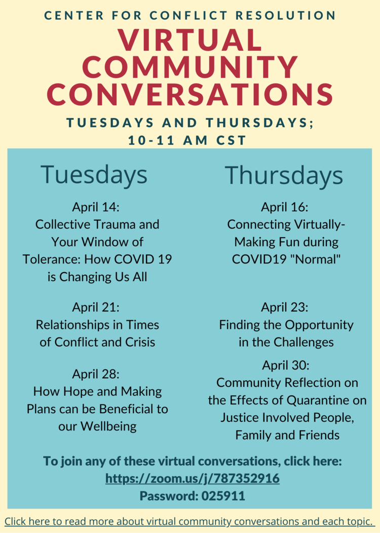 Virtual Community Conversations Helping Residents During Covid-19 Pandemic