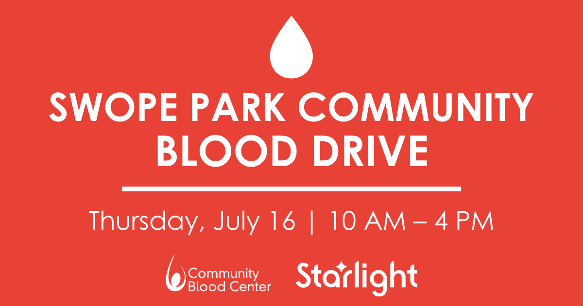Swope Park Community Blood Drive: July 16