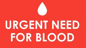 urgent need for blood flyer