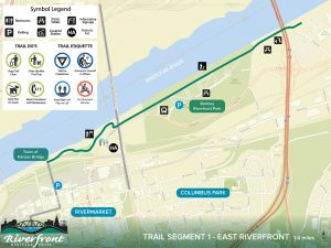 Riverfront heritage trail map
