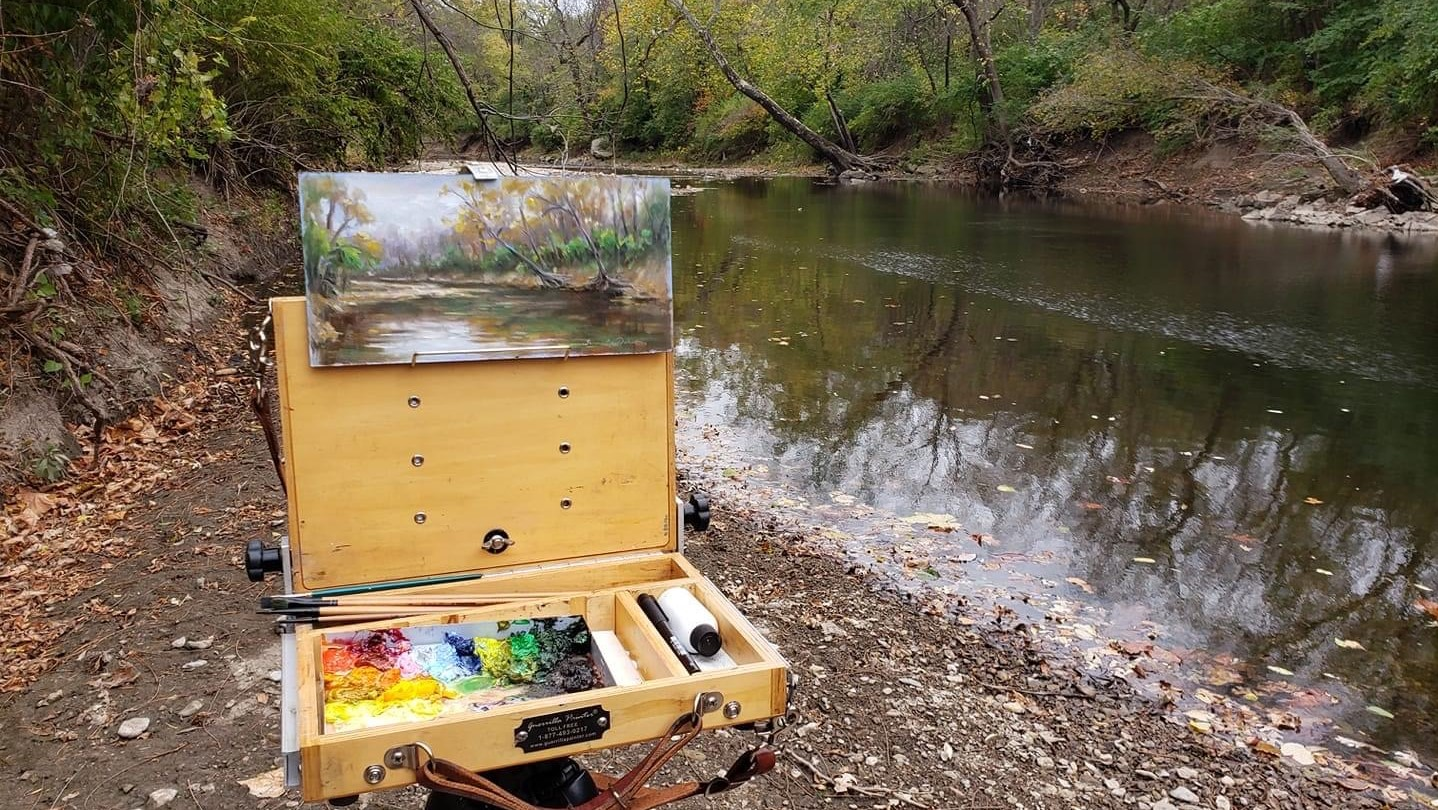 painting in Indian creek