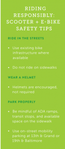 Scooter and E Bike Safety Tips