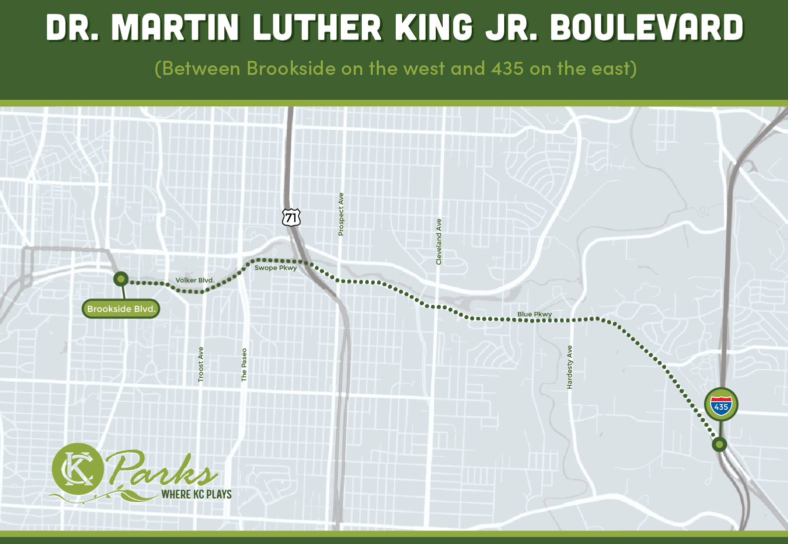 Dr. Martin Luther King Jr. Boulevard Map