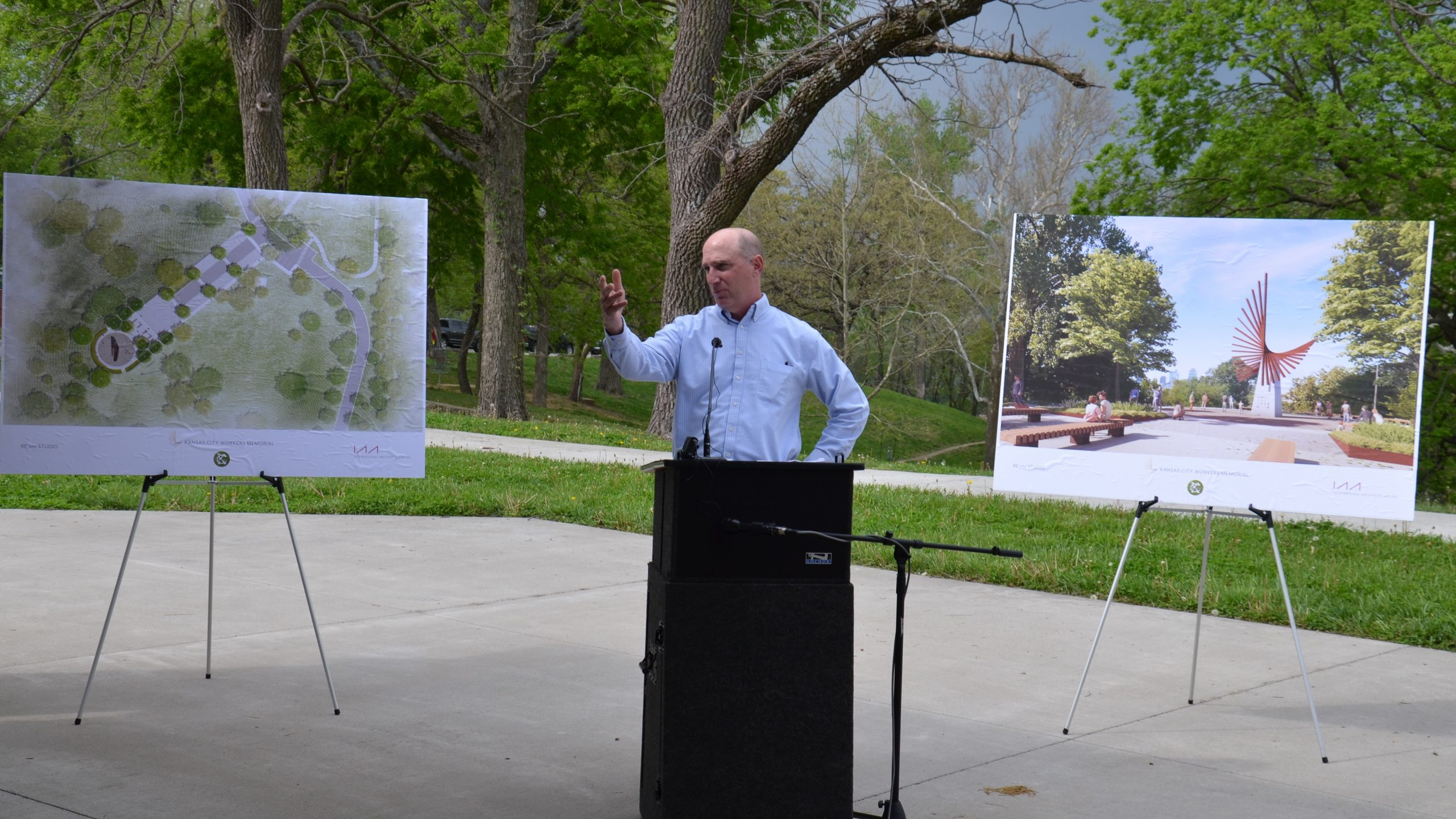 "KC Honors National Workers Memorial Day-Unveils Plans for ""Rays of Remembrance"" Planned at Waterworks Park"