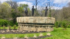 François Chouteau & Native American Heritage Fountain Statues