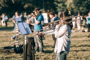 People playing Trombones