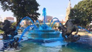 Roo blue fountain