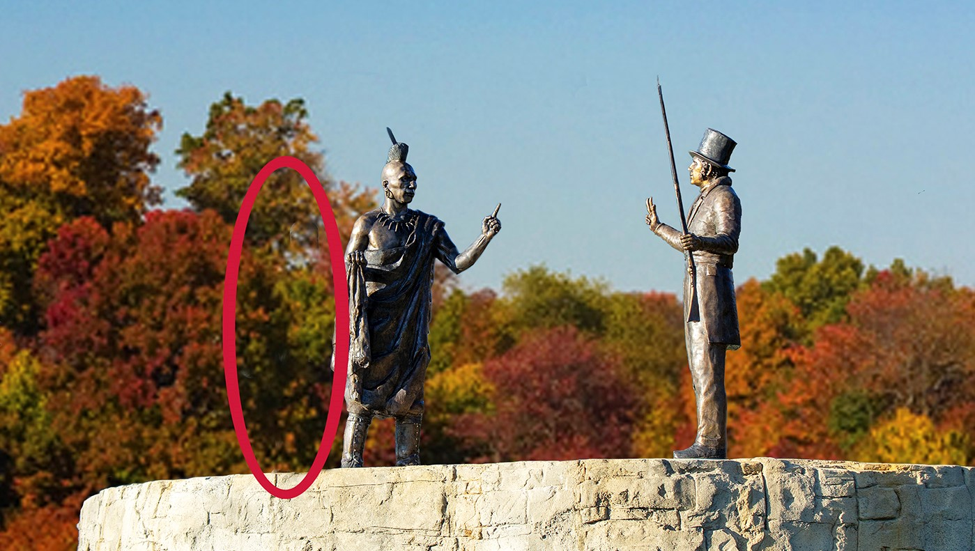 Stolen Female Osage Sculpture Recovered and Ready to be Repaired and Restored